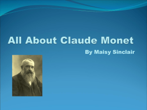 All About Claude Monet