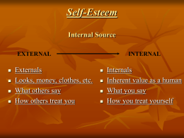 Self-Esteem Internal Source