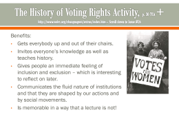 The History of Voting Rights Activity, p. 30 TCA + http://www.nelrc