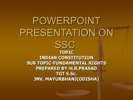 POWERPOINT PRESENTATION ON SSC.