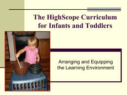 Guidelines for Arranging and Equipping the Infant