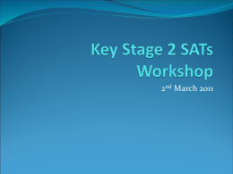 Key Stage 2 SATs Workshop