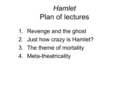 Is this a good intro (so far) for a Hamlet sanity/insanity research paper?