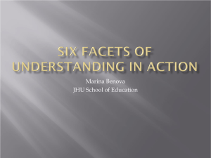 Six Facets Of Understanding in action