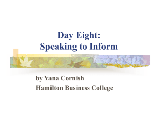 Day Six: Preparing your speeches