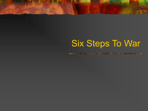 Six Steps To War - Freeman Public Schools