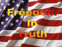 Freedom in Truth - Radford Church of Christ