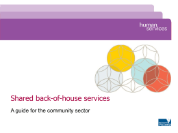 Shared back-of-house services - Department of Human Services