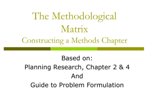 The Methodological Matrix