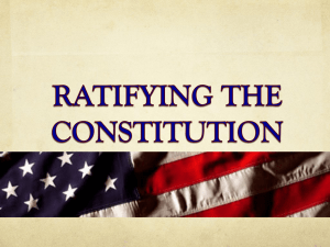 In 1787, citizens from every state began to debate the Constitution