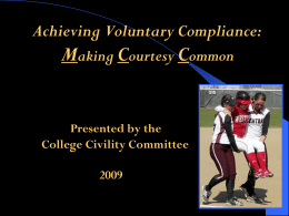 Making Courtesy Common - Monroe Community College