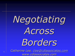 Negotiating Behaviors