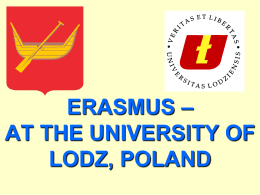 erasmus – at the university of lodz, poland