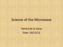 Science of the Microwave Oven .
