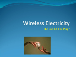 Wireless Electricity - NIU