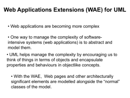 Object-Oriented Design: UML Extensions for Web Applications