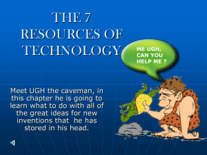 THE 7 RESORCES OF TECHNOLOGY