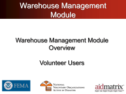 Warehouse Management Module