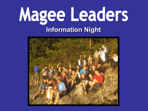 Information Night Magee Leaders Program Structure Social Studies
