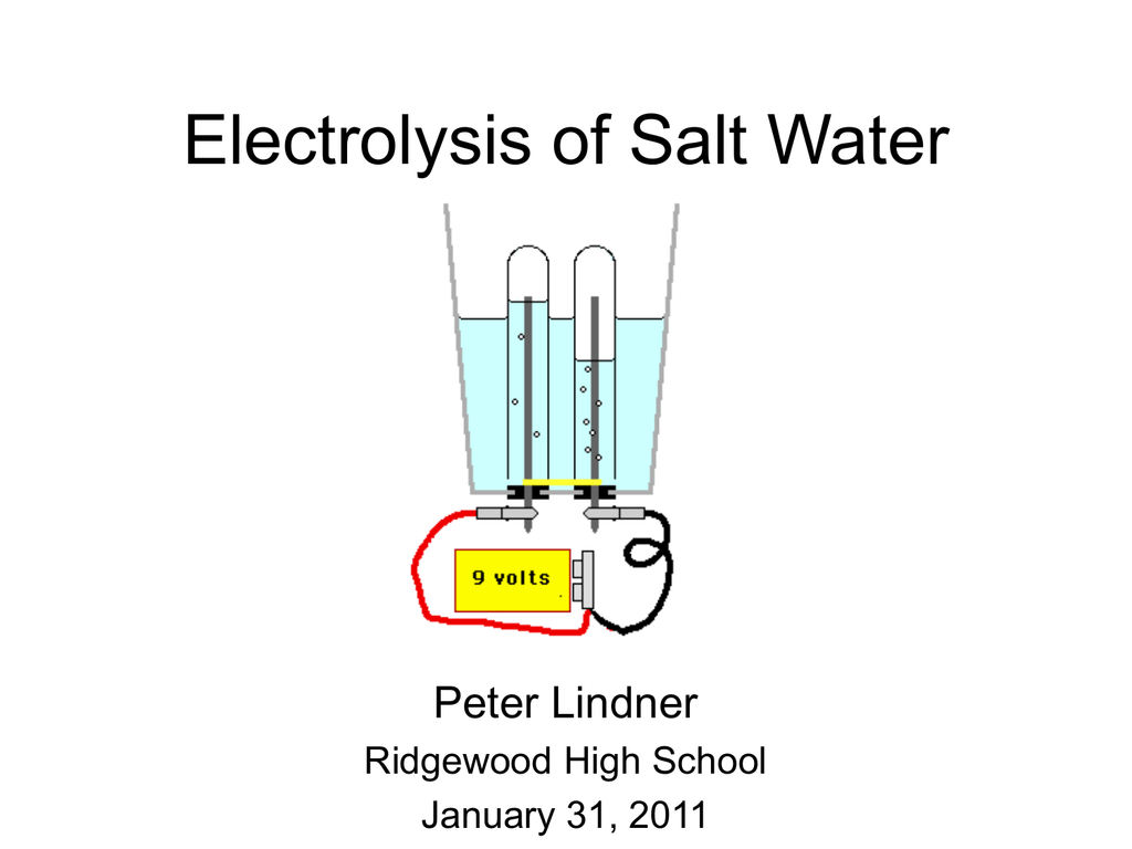 Electrolysis of Salt Water Lab