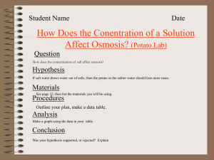 Lesson 11 How Concentration Affects Osmosis Lab