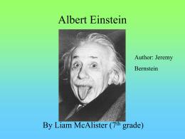 Albert Einstein - grade7energyinourworld