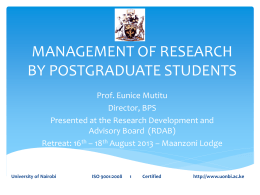 Management of Reseach Presentation 16-8-13