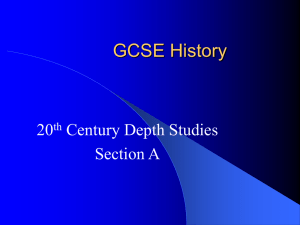 GCSE History - historyatfreeston.co.uk
