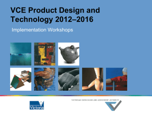 VCE Product Design and Technology Study Design (2012–2016)