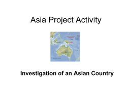 Asia Project 2013