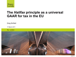 The Halifax principle as a universal GAAR for tax in the EU - IFA-UK