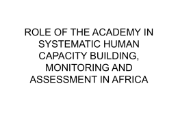 role of the academy in systematic human capacity building