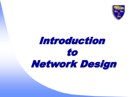 Introduction to Network Design