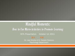 Mindful Moments: How to Use Micro
