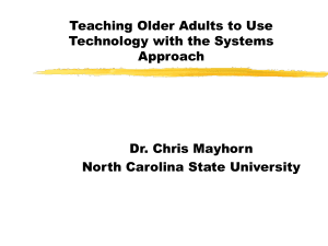 Teaching Older Adults to Use Technology with the