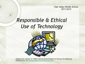 Responsible Use of Technology