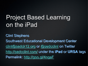 Project Based Learning Activities on the iPad for PowerPoint