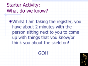 Skeletal System PowerPoint - Pupils Copy