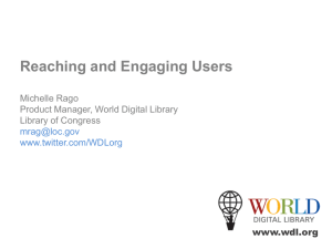 Reaching and Engaging Users (Michelle Rago)