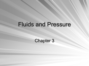 Fluids and Pressure