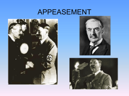 Was Appeasement a mistake?