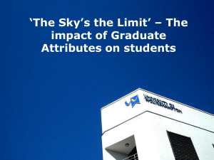`A Brighter Future` – The impact of Graduate Attributes on students