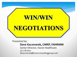 negotiations win/win