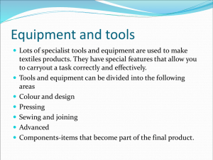 GCSE Textiles Equipment and tools PPt 2