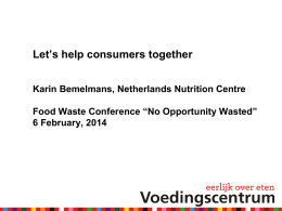 Karin Bemelmans - Food Waste Conference