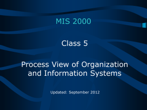 Process View of Organization and Information Systems