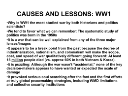 IntlSec.8.WW1 - High Point University