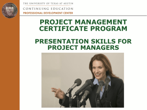 Module 15 - Presentation Skills - The University of Texas at Austin