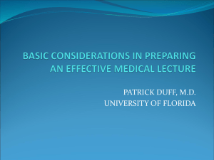 preparing an effective medical lecture