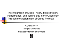 The Integration of Music Theory - The Astro Home Page